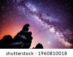 a beautiful milkyway on a night ...   Shutterstock . vector #1960810018
