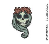skeleton woman. the day of... | Shutterstock .eps vector #1960820632