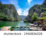 canyon matka in north macedonia ...   Shutterstock . vector #1960836328