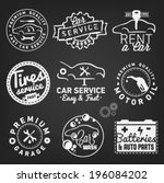 car badges labels and symbols... | Shutterstock .eps vector #196084202