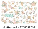 simple flowers pastel colored...   Shutterstock .eps vector #1960857268