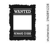 template of wanted poster with... | Shutterstock .eps vector #1960891228