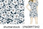 elegant floral pattern in small ...   Shutterstock .eps vector #1960897342