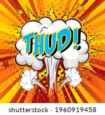 word thud on comic cloud... | Shutterstock .eps vector #1960919458