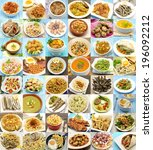 collage of cooked dishes... | Shutterstock . vector #196092212