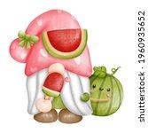 digital paint watercolor fruits ... | Shutterstock .eps vector #1960935652
