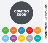 coming soon sign icon.... | Shutterstock .eps vector #196093805