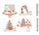 christmas graphic elements set | Shutterstock .eps vector #196095902