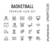 premium pack of basketball line ...