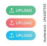 upload button in flat design...