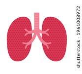 human lung symbol  simple design | Shutterstock .eps vector #1961008972
