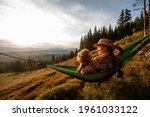Boy Tourist Resting In A...