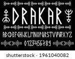 scandinavian script  in capital ...   Shutterstock .eps vector #1961040082