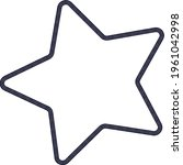 star with rounded ends in...