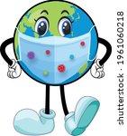 global covid mask cartoon... | Shutterstock .eps vector #1961060218