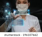 female medical doctor working... | Shutterstock . vector #196107662