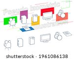 pseudo isometric vector icons....