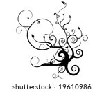 abstract swirly floral vector...