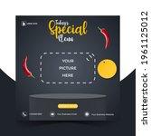 food or culinary social media... | Shutterstock .eps vector #1961125012