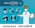 coronavirus covid 19... | Shutterstock .eps vector #1961128048