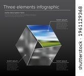 vector dark simple infographic...   Shutterstock .eps vector #1961129368