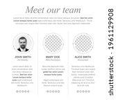 meet our company team website...   Shutterstock .eps vector #1961129908