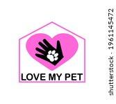 Love My Pet Logo With Dog...