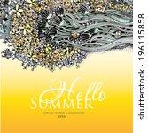 flower vector background. hello ... | Shutterstock .eps vector #196115858