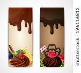 sweets dessert food milk and... | Shutterstock .eps vector #196116812
