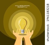 world intellectual property day ... | Shutterstock .eps vector #1961183218