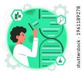 biotechnology concept. biology  ...   Shutterstock .eps vector #1961189278