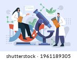 biotechnology concept. biology  ...   Shutterstock .eps vector #1961189305