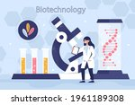 biotechnology concept. biology  ...   Shutterstock .eps vector #1961189308