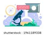 biotechnology concept. biology  ...   Shutterstock .eps vector #1961189338