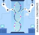 biotechnology concept. biology  ...   Shutterstock .eps vector #1961189425