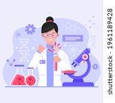 biotechnology concept. biology  ...   Shutterstock .eps vector #1961189428