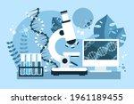 biotechnology concept. biology  ...   Shutterstock .eps vector #1961189455