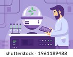 biotechnology concept. biology  ...   Shutterstock .eps vector #1961189488