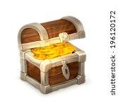 treasure chest  vector... | Shutterstock .eps vector #196120172