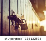 Door Lock Old Rusty Background