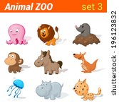Funny Baby Animals Icon Set....