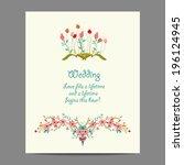 bridal shower invitation card | Shutterstock .eps vector #196124945