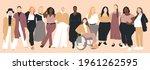 women of different ethnicities... | Shutterstock .eps vector #1961262595