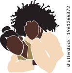 black woman portrait. lesbian...   Shutterstock .eps vector #1961266372
