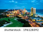panama city beach  florida ... | Shutterstock . vector #196128392