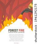 forest fire vector placard....   Shutterstock .eps vector #1961292175