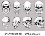 skull set   Shutterstock .eps vector #196130138