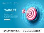target landing page  banner... | Shutterstock .eps vector #1961308885