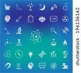 science vector set . | Shutterstock .eps vector #196136162
