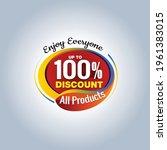 100 percent discount logo....   Shutterstock .eps vector #1961383015